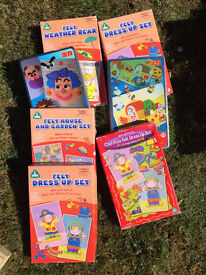 7 x Childrens Various Felt Puzzles 3 years +