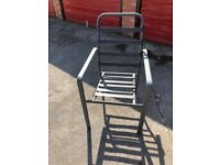 4 stackable metal chairs reduced due to time wasters