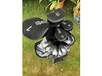 Masters ladies golf club set, bag and hood.