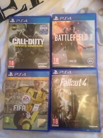 Sony PlayStation 4 fifa17/battlefield 1 / fallout 4