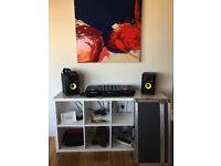 Set of Pioneer CDJ-350's, with DJM 350 Mixer and Rokit RP5 Speakers
