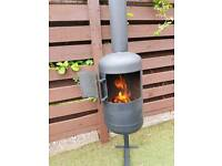 Wood burner made from recycled large gas bottle