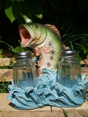 Fisch Deko Figur Angel Pfeffer&Salz Streuer Angler Fische Forelle Garten NEUHEIT (Fisch Salz)