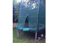 8' / Eight foot trampoline 2013 good used condition includes safety net and instructions London N5