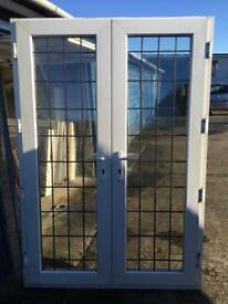 UPVC LEADED FRENCH DOORS MINT CONDITION