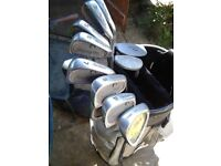 full set of golf clubs with extras