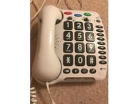 Telephone. Designed for hard of hearing.