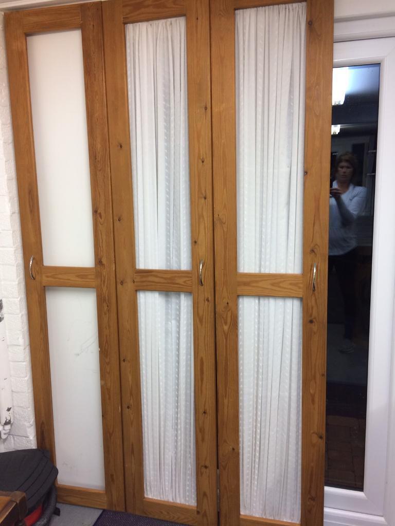 3 door frames with fabric