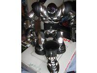 large chrome robosapian robot remote controllled