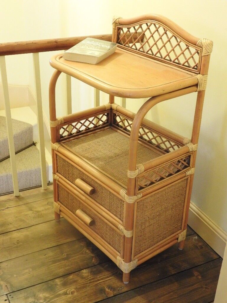 Rattan small cabinet. bedside/bathroom/telephone.