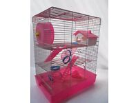 Large Hamster Cage - Penthouse Pink and purple RRP £29.99