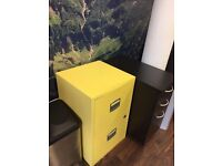 Yellow Filing Cabinet with Dividers