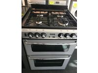 STOVES NEWHOLME 60CM ALL GAS COOKER WITH LID IN SILIVER