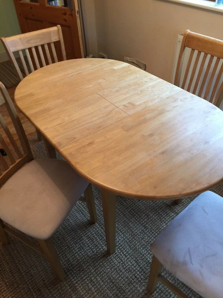 Extending / Folding Dining Room Table & 4 Chairs - good ...