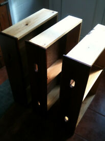 Wooden drawers x3