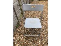 Silver/grey folding chair