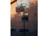 Basketball net with adjustable post