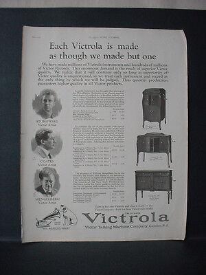 1924 Victrola 80 260 400 Phonograph Stokowski Coates Mengelberg Vintage Ad 11703