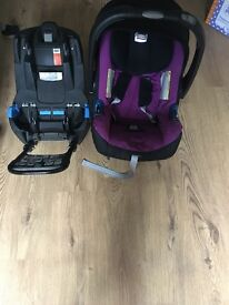 Baby Car seat Britax with( isofix)and normal