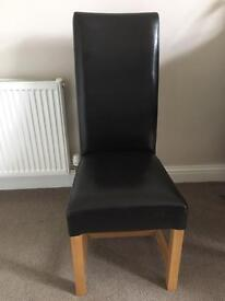 6 Leather Chairs (will sell separately for £10 each)