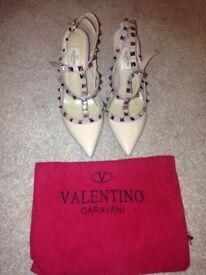 Valentino rock studd heels nude
