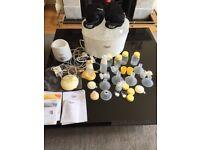 Medela swing Brest pump + calma teat + lots of accessories + steriliser+ bottle warmer