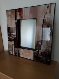 John Lewis New York Mirror Picture Very Good Condition FREE local delivery