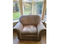 Lounge chair in beige