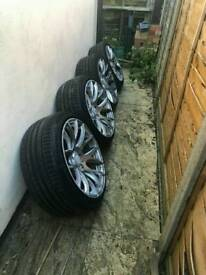 "3sdm 18"" alloy wheels with tyres 5 stud fitment"