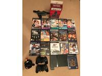 Sony PlayStation 2 (PS2) bundle, 2 controllers and 16 Games