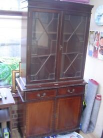 retro bookcase/cabinet ideal shabby chic project