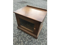 ERCOL TV Cabinet , from Mural range , In golden Dawn. Size L 25.5in D 19.5in H 22in.