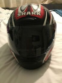 Ladies shark motorbike helmet