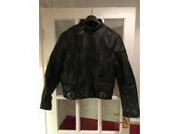 Sportex Leather Motorbike Jacket Size 42