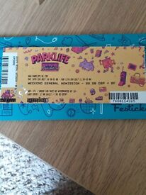 Parklife ticket weekend