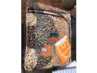 Leopard print throw /cover