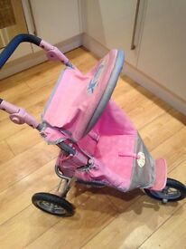 Baby Born Dolls 3 wheeler stroller buggy