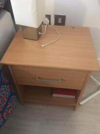 Bedside with drawer and lower shelf - 2 pieces available