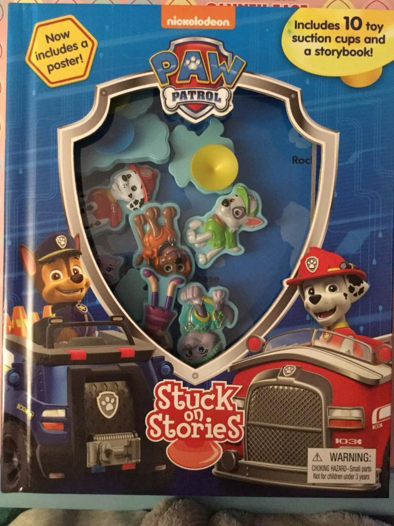 Paw patrol book with suction characters