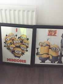 Excellent condition Minion Framed Prints