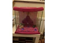 Girls pink fish tank