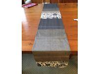 Beautiful hand made Indonesian batik and silk table runner