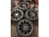 "BMW 5 series 18""5stud ET47 set of 4 alloys"