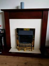 Electric coal effect fire place