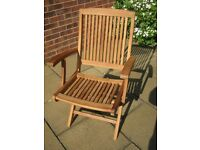New Premier Teak Bali Folding Garden Armchair - ONLY ONE