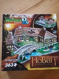 3D Jigsaw Puzzle of Hobbiton from the Hobbit