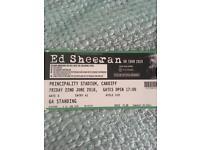 Ed Sheeran Ticket for Sale - Cardiff