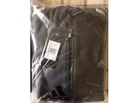 Adidas hoodie, full zip. Large. Unused still in wrapper with tags. Charcoal grey.
