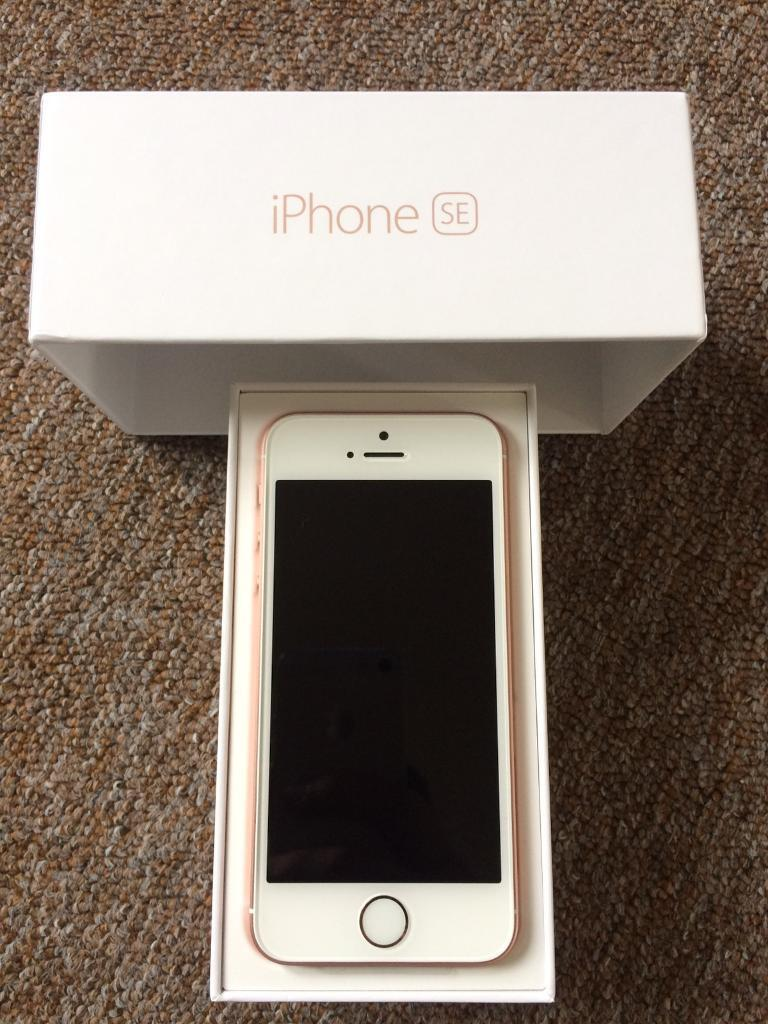 Brand New Rose Gold Iphone SE 128GB