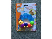 Baby teething ring NEW IN BOX